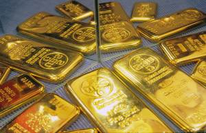 stamped gold bars